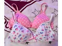 2 girls bras 30A - hardly worn