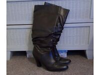 Chocolate Brown Knee High Boots – Size 6