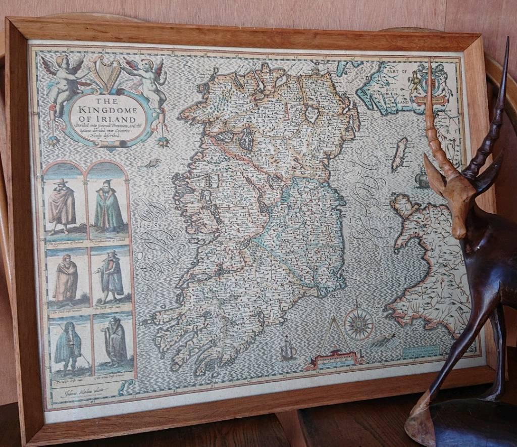 John Speed Map Of Ireland.Mid Century John Speed Map Of Ireland In Bangor County Down Gumtree