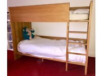 Habitat Ando kids bunk bed in oak. Good condition. North London. Buyer collect.
