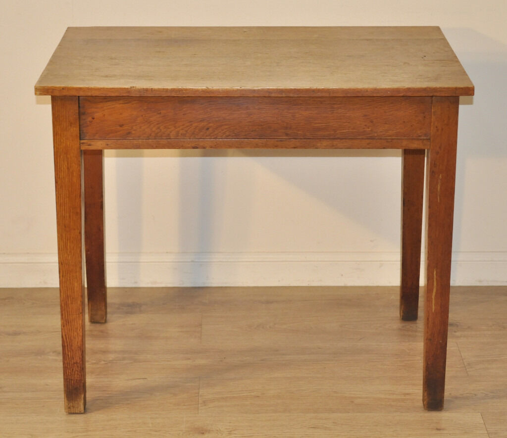 Attractive Lovely Rustic Small Simple Vintage Oak Work Desk