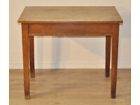 Attractive Lovely Rustic Small Simple Vintage Oak Work Desk Worktop Table