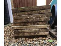 Garden patio paving slabs