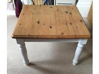 Natural wood top coffee table