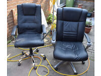 Pair of chairs for sale. Office type.