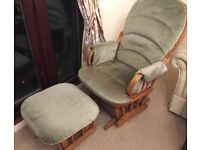 Gliding/Rocking Chair and gliding stall - ideal for nursing or relaxation.