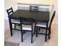 Ikea LERHAMN Dining Table and 4 Chairs