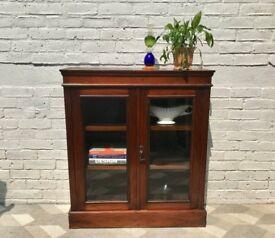 Vintage Bookshelf Cabinet Small Wooden #714