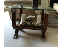 Elegant Side table with Bevelled Glass Top