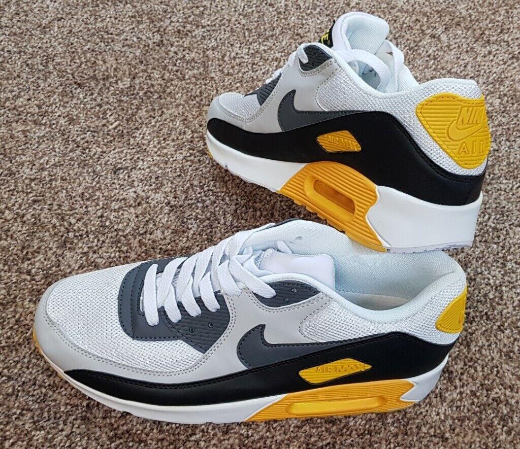 Nike Air Max 90 White Grey Black Yellow