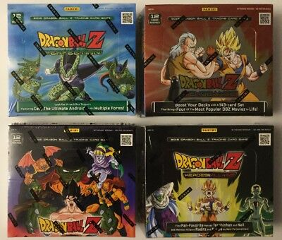 PANINI DRAGON BALL Z BOOSTER BOX SEALED LOT OF 4 DIFFERENT FROM SEALED CASES