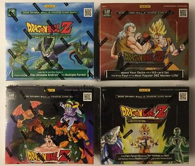 PANINI DRAGON BALL Z BOOSTER BOX SEALED LOT OF 4 DIFFERENT FROM SEALED CASES Booster Box Dragon Ball