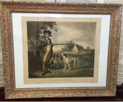 'Partridge Shooting' George Morland Lithograph