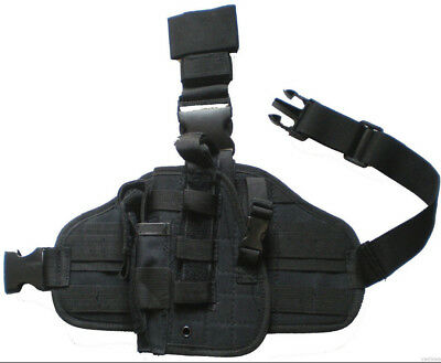 DROP LEG GUN HOLSTER LEFT HAND Baretta Glock Ruger S&W HK LT