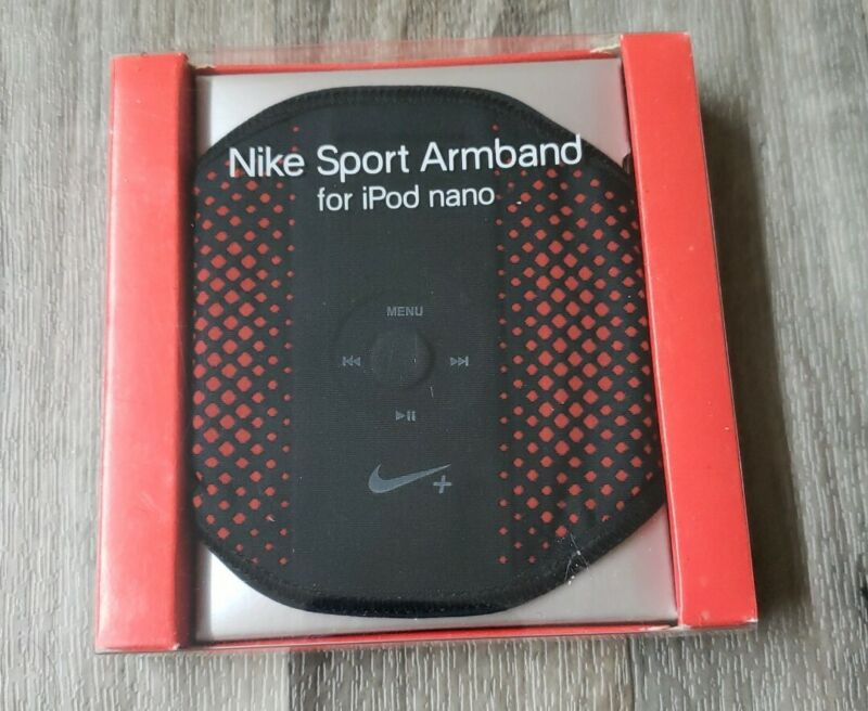 NIKE SPORT ARMBAND BRASSARD FOR ALL APPLE IPAD NANOS MODELS BLACK/RED