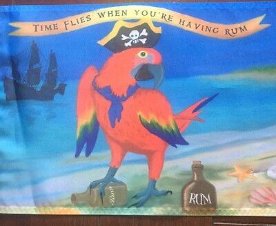 Jimmy Buffett Time flies When having rum parrot head 12 X 18 Nylon Flag