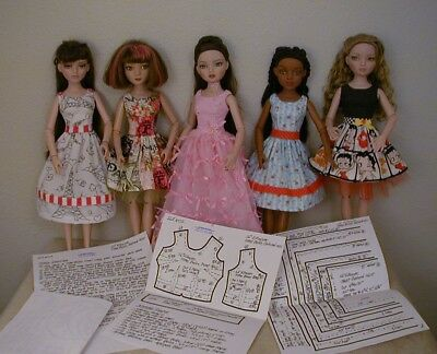 "Fitted Bodice Dress Pattern 16EW02 For 16"" Tonner/Wilde Imagination Ellowyne"