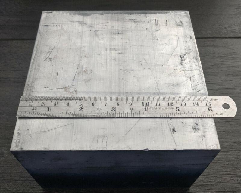 "6061 Aluminum Metal Block For Milling Machining 6""x6""x4"""