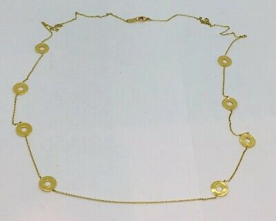"""Ippolita Authentic 18k Yellow Gold Long Disc Station Chain Necklace 38"""""""