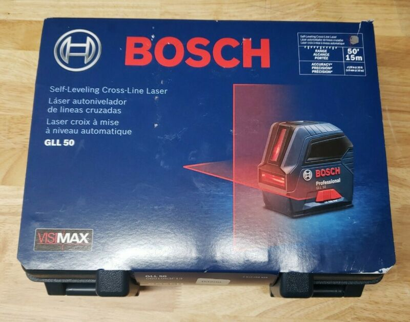 Bosch GLL 50 50 ft. Self Leveling Cross Line Laser Level New Sealed Free Shippin
