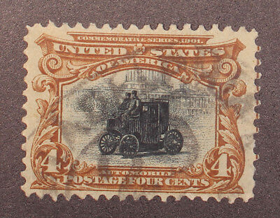 Scott 296 - 4 Cents Pan American - Used - Nice Stamp - SCV - $18.00