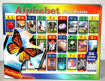 Melissa & Doug Childrens 24 Jumbo Piece Alphabet Picture Floor Puzzle