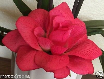 PINK #2 FLOWER HAIR CLIP FOR MEXICAN FIESTA,5 DE MAYO,DAY OF THE DEAD, WEDDING - Fiesta Hair
