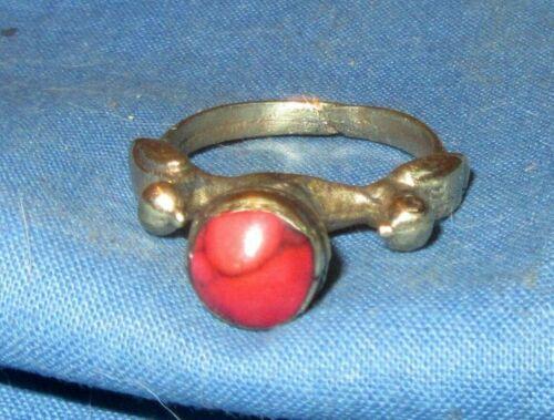 Ring Size 7 to 8 Gemstone Afghan Kuchi Tribal Alpaca Silver