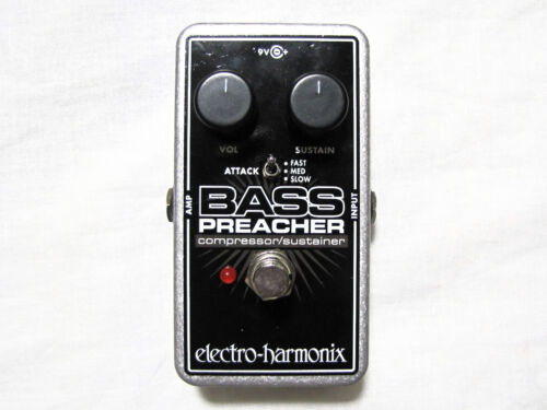 Used Electro-Harmonix Bass Preacher Bass Guitar Compressor Sustainer Pedal