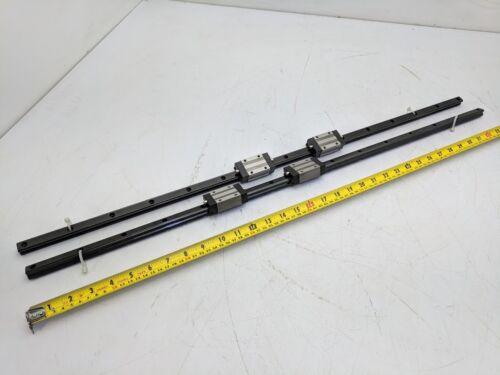 SKF Linear Rail Bearing Guide 2 Rails 4 LLTHC15 Blocks U TO P3 TW 298G 850mm L