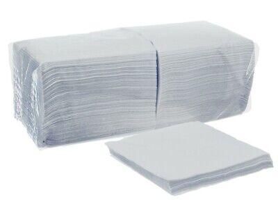 Premium Prägeservietten Papier Servietten weiß 33x33cm 1/4 Falz 1lagig Serviette ()