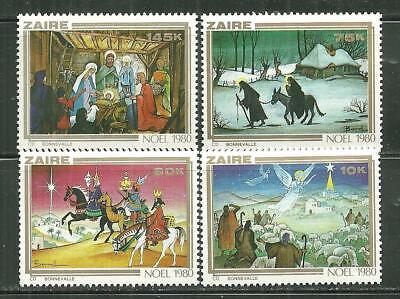 ZAIRE 1000-1003 MNH CHRISTMAS 1980
