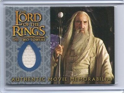 LOTR TTT Lord Of The Rings TWO TOWERS Saruman's Overtunic costume swatch card  - Saruman Costume