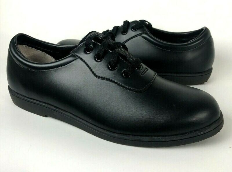 Dinkles Unisex Marching Band Matte Black Oxfords Mens 8 Womens 10 Shoes 6565