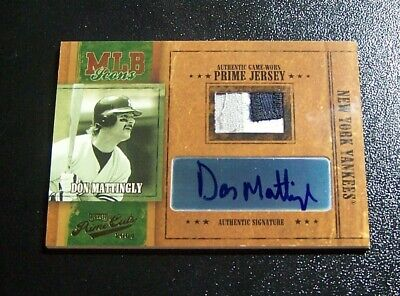 2003 Playoff Prime Cuts MLB Icons Don Mattingly Autograph Auto + patch /50 2003 Playoff Piece