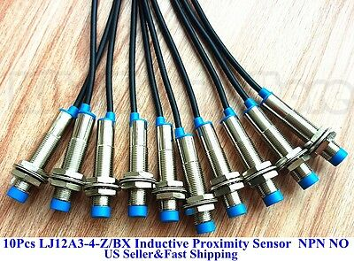 10pcs New Lj12a3-4-zbx Inductive Proximity Sensor Switch Npn Dc6-36v