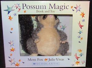 BOOK & TOY GIFT SET POSSUM MAGIC BY MEM FOX  ~ NEW PAPERBACK BOOK & PLUSH TOY