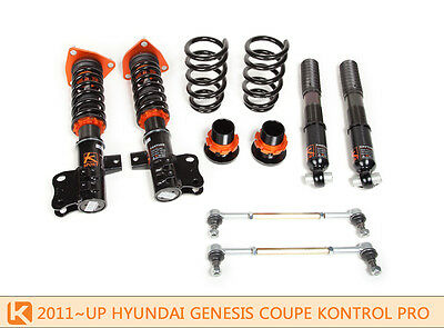 Ksport Kontrol Pro Coilovers Shocks Springs for Hyundai Genesis Cpe 11-14 2.0L T
