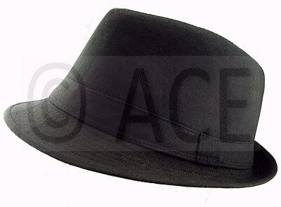 Unisex Mens Womens Fedora Hats Dance Costume Gangster Trilby Hat in - Costume Fedora Hats