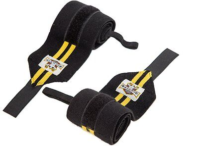 """Wrist Wraps suport Pair 24"""" Heavy Duty Support for Weight Lifting Men & Women"""