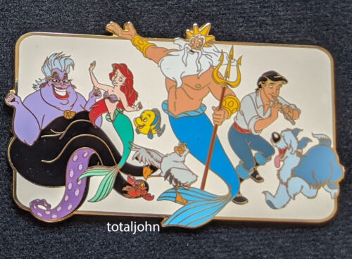 39356 Disney Auctions - The Little Mermaid Cast Jumbo Pin with Issues