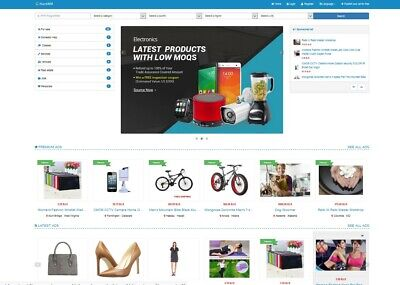 Classifieds Website Blue Theme - Free Install Hosting With Ssl