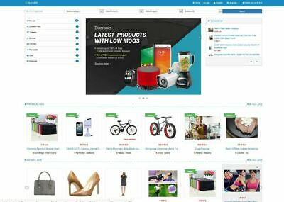 Premium Classifieds Website Blue Color Free Hosting Installation Ssl