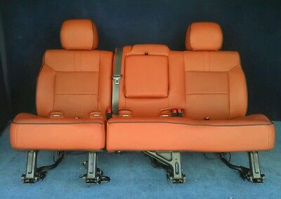 2009 2008 Hummer H2 2nd Row Split Bench Seat in Brick Red Leather