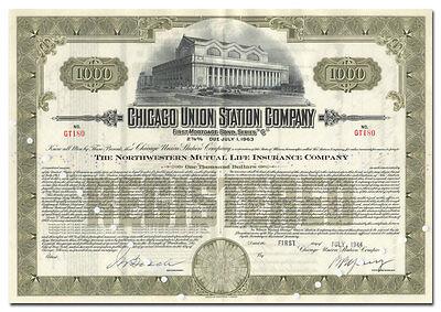 Chicago Union Station Company Bond Certificate