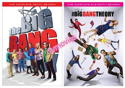 The Big Bang Theory: The Complete Season 10 & 11 (DVD,5-Disc Set) Brand New