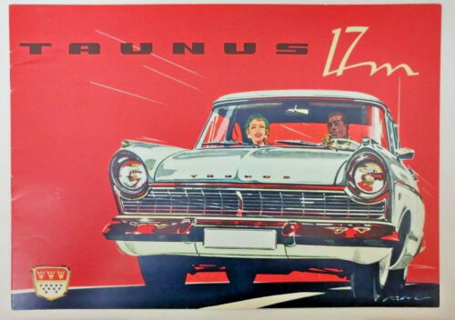 1960 Ford of Germany Taunus 17M Original Sales Brochure in English Prospekt P2
