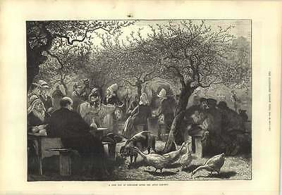 1873 Festival Day In Normandy After The Apple Harvest Donkey Rides Apple Harvest Festival
