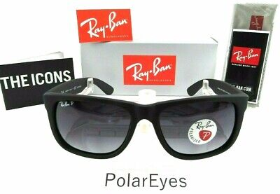 Ray-Ban RB4165 54mm Justin New Wayfarer Sunglasses (Black/Polarized (Ray Ban New Wayfarer Sunglasses)