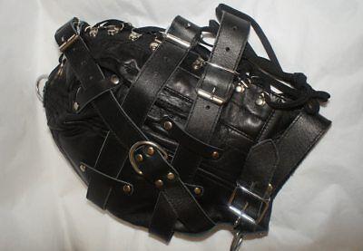 Leather hood Leder Cuir Tight mask Maske 9